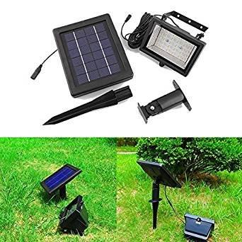 deckey leuchtturm 30 led fluter strahler schalter mit lichtsensor panel solar lampe au en. Black Bedroom Furniture Sets. Home Design Ideas