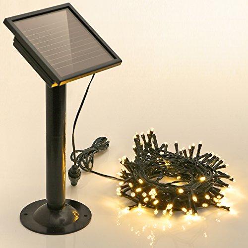 Weihnachtsbeleuchtung Außen Bogen.Koopower Solar Lichterkette Außen Mit Timer 100 Led Akku Enthalten