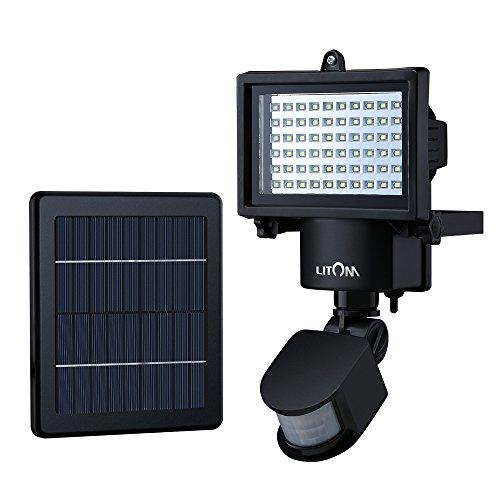 Litom Beleuchtung Mit Bewegungssensor Solarbetrieben 60