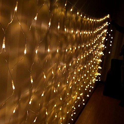 Hj led lichternetz lichterkette baumbeleuchtung 300 leds - Lichterkette an der wand ...
