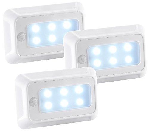 luminea treppenleuchte led nachtlicht mit bewegungs d mmerungs sensor batterie 3er set led. Black Bedroom Furniture Sets. Home Design Ideas