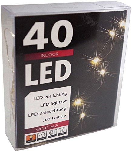 60er led draht lichterkette batterie warmwei mit timer f r innen und au en fernbedienung f r