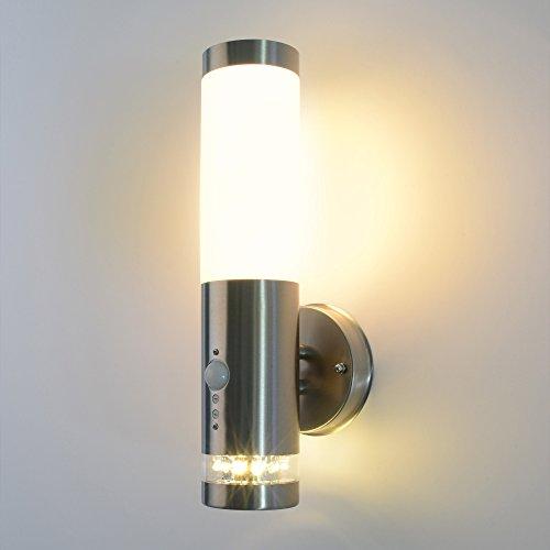 aussenleuchte 232a21 inkl e27 led 7w warmwei mit bewegungsmelder wandleuchte aussenwandlampe. Black Bedroom Furniture Sets. Home Design Ideas