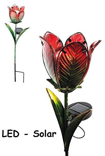 Garten wetterfest f r au en handbemaltes glas gartendeko solarleuchte solarbetrieben mit - Glas gartendeko ...