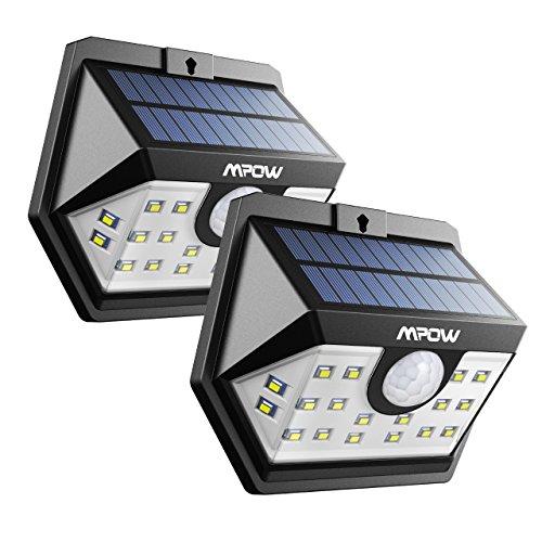 erweiterte version mpow weitwinkel solarleuchte 20 led superhelles solarlicht garten mit. Black Bedroom Furniture Sets. Home Design Ideas