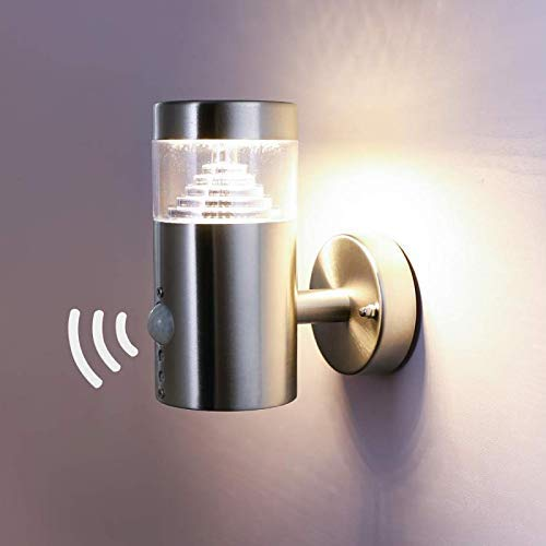 nbhanyuan lighting aussenleuchte au enlampe mit bewegungsmelder und d mmerungsschalter led. Black Bedroom Furniture Sets. Home Design Ideas