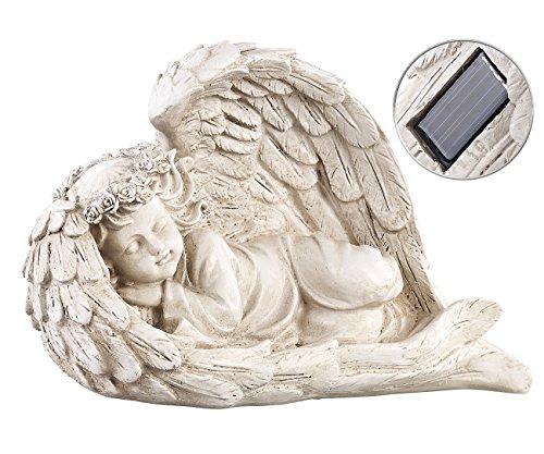 Solar Weihnachtsbeleuchtung Figuren.Lunartec Engel 2 Schlafende Solar Led Schutzengel Figuren 17 Cm
