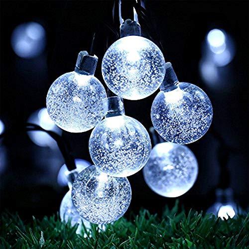 Solar Weihnachtsbeleuchtung.Oxyled Solar Lichterkette Aussen Mit 30 Led Weiss